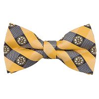 Boston Bruins Check Woven Bow Tie
