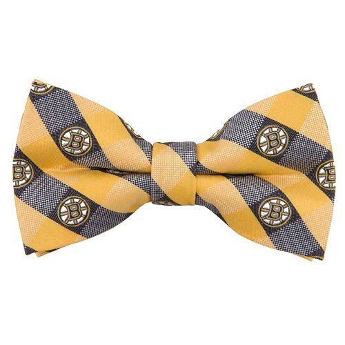 Boston Bruins Check Woven Bow Tie