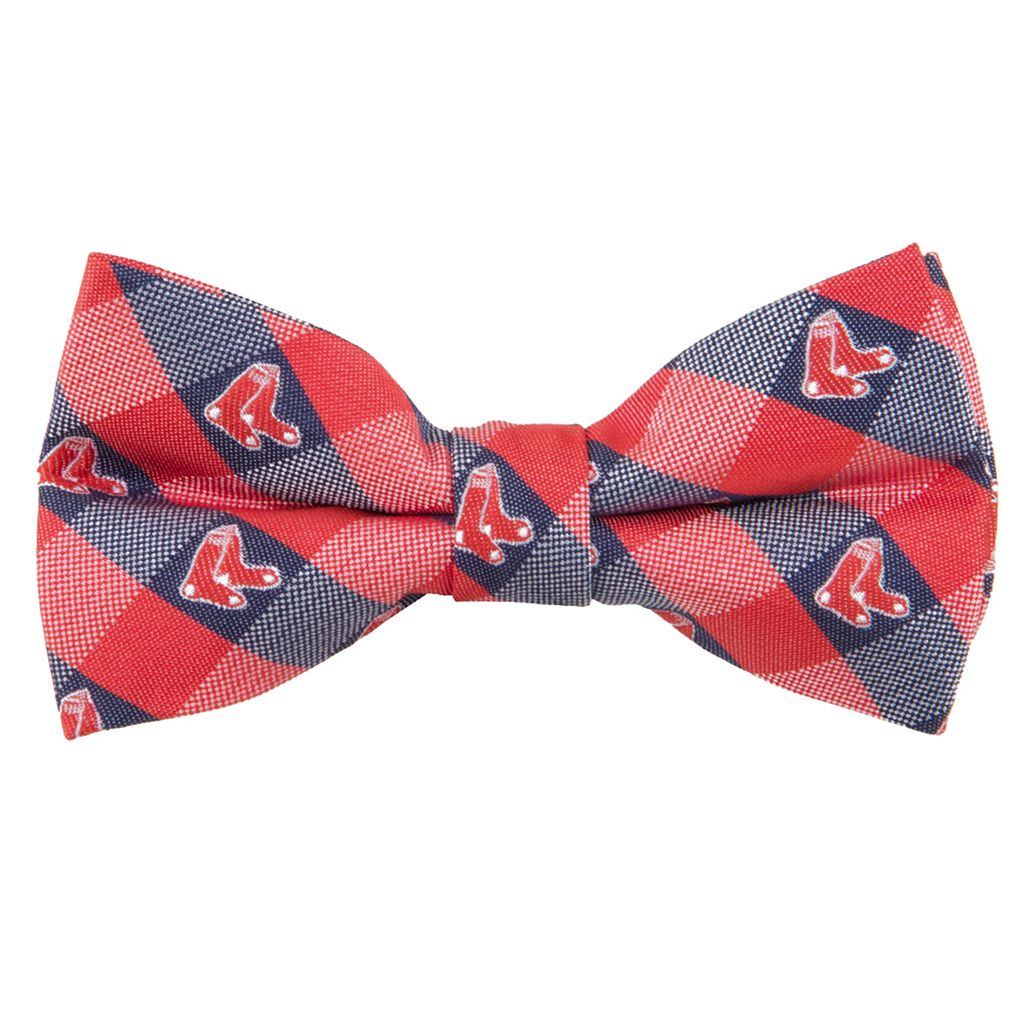 Boston Red Sox Check Woven Bow Tie
