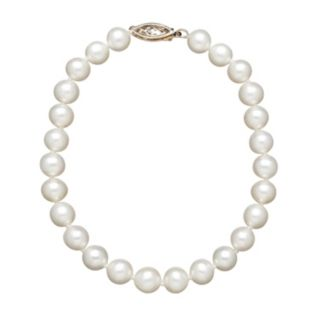 Freshwater by HONORA Freshwater Cultured Pearl 10k Gold Bracelet