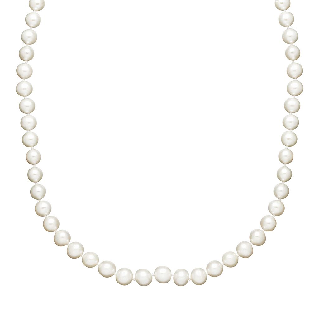 Freshwater by HONORA Freshwater Cultured Pearl Necklace in 10k Gold (7-8 mm)