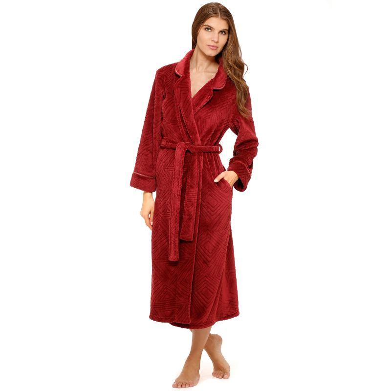 Stan Herman Deco Diamond Wrap Robe - Women's Plus Size