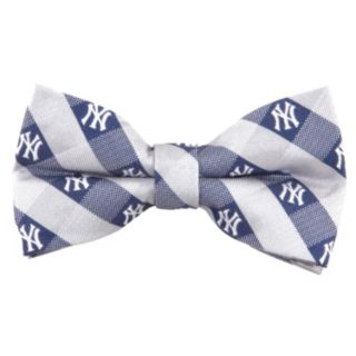 New York Yankees Check Woven Bow Tie