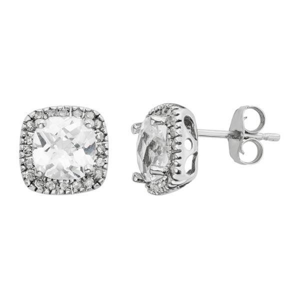 Lab-Created White Sapphire & 1/6 Carat T.W. Diamond 10k