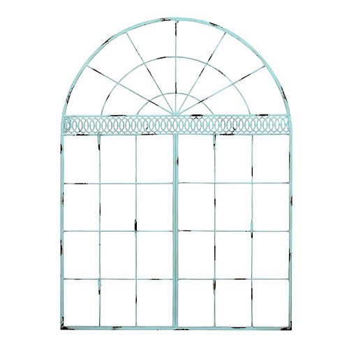 Belle Maison Arch Distressed Metal Wall Decor