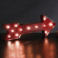 Apothecary 13.5-in. Arrow LED Marquee Sign Decor