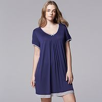 Plus Size Simply Vera Vera Wang Pajamas: Basic Luxury Sleep Shirt