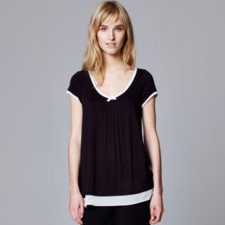 Women's Simply Vera Vera Wang Pajamas: Basic Solid Luxury Pajama Top