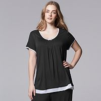 Plus Size Simply Vera Vera Wang Pajamas: Basic Luxury Pajama Top