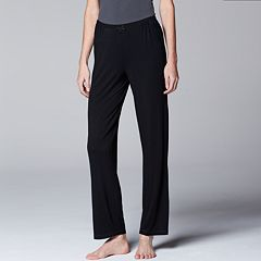 Women's Simply Vera Vera Wang Pajamas: Basic Solid Luxury Pajama Pants