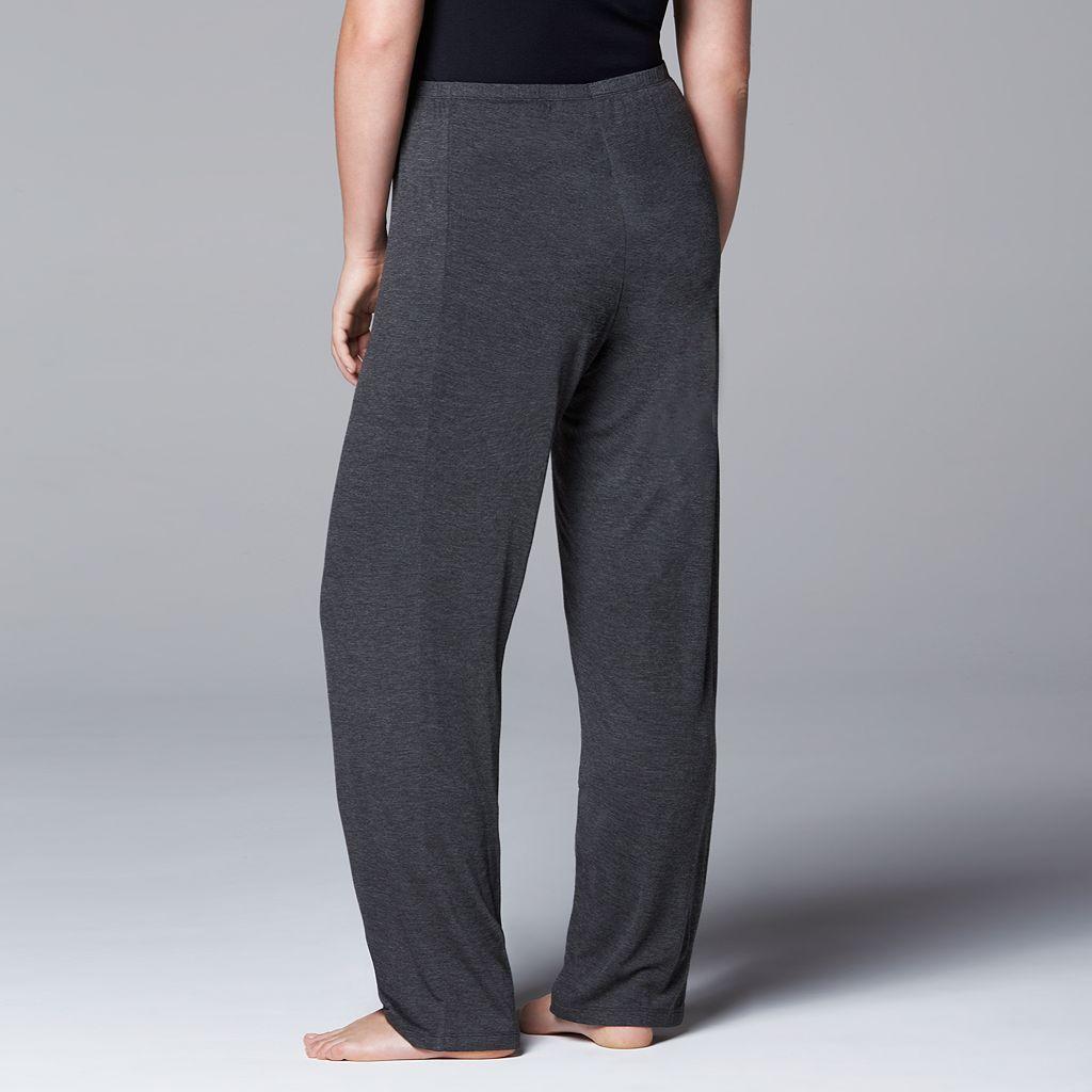 Plus Size Simply Vera Vera Wang Pajamas: Basic Luxury Pajama Pants