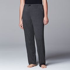 Plus Size Simply Vera Vera Wang Pajamas: Basic Luxury Pajama Pants