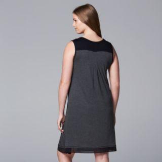 Plus Size Simply Vera Vera Wang Basic Luxury Chemise