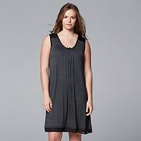 Plus Size Simply Vera Vera Wang Basic Luxury Chemise