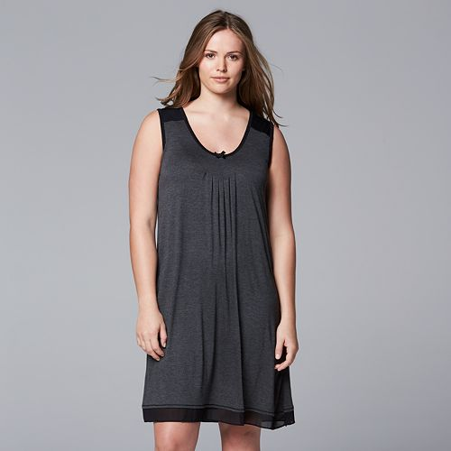 90c0c3439ae Plus Size Simply Vera Vera Wang Basic Luxury Chemise