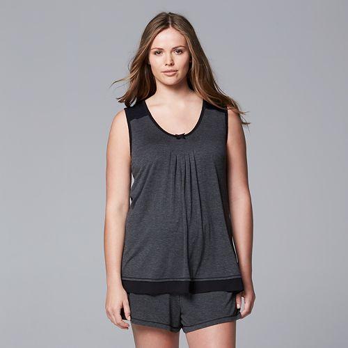 Plus Size Simply Vera Vera Wang Pajamas: Basic Luxury Pajama Set