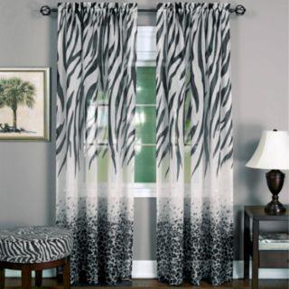 Kenya 1-Panel Sheer Window Curtain - 50'' x 84''