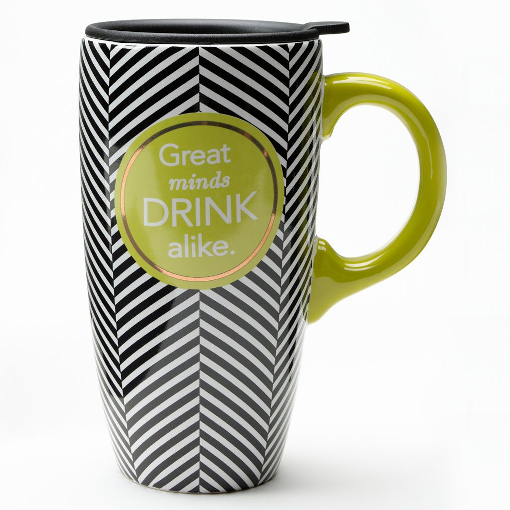 ''Great Minds Drink Alike'' Travel Mug