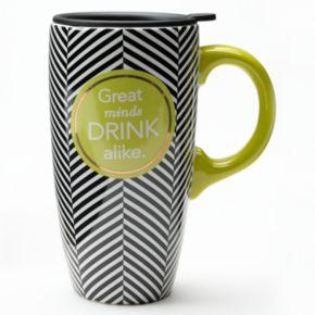 ''Great Minds Drink Alike'' Travel Mug