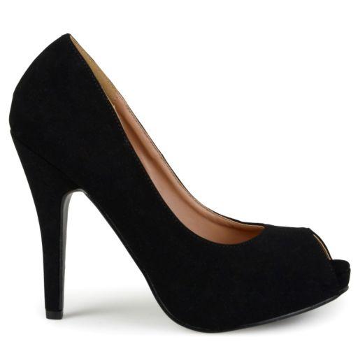 Journee Collection Lois Women's Peep-Toe Platform High Heels