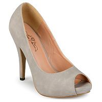 Journee Collection Lois Women's Peep-Toe Platform High Heels