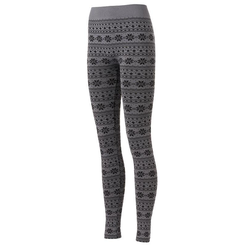 Jacquard Fleece-Lined Leggings - Women's