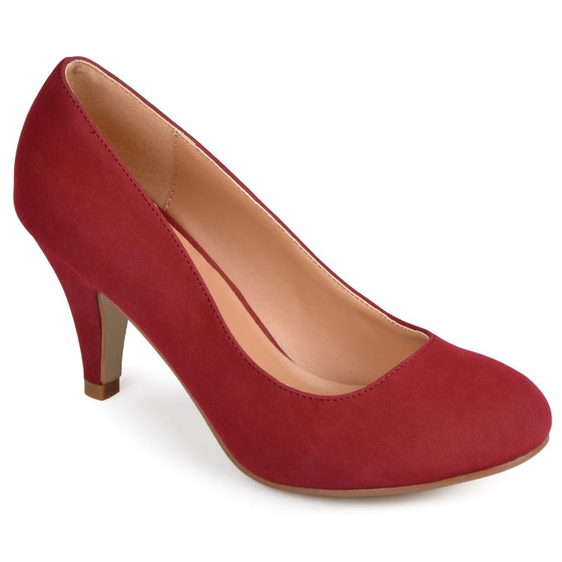 Journee Collection Red Retire Women's Wide-Width Dress Heels
