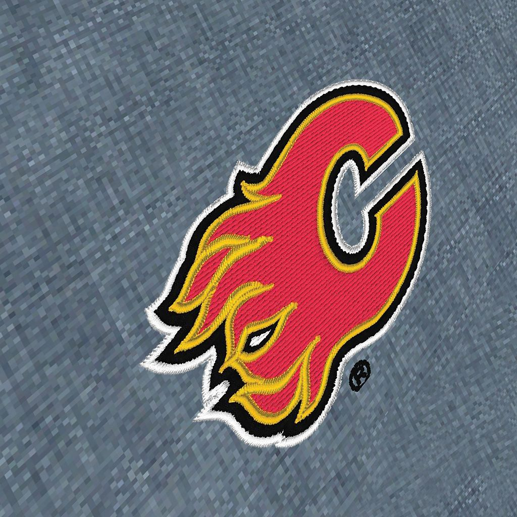 Men's Antigua Calgary Flames Chambray Button-Down Shirt