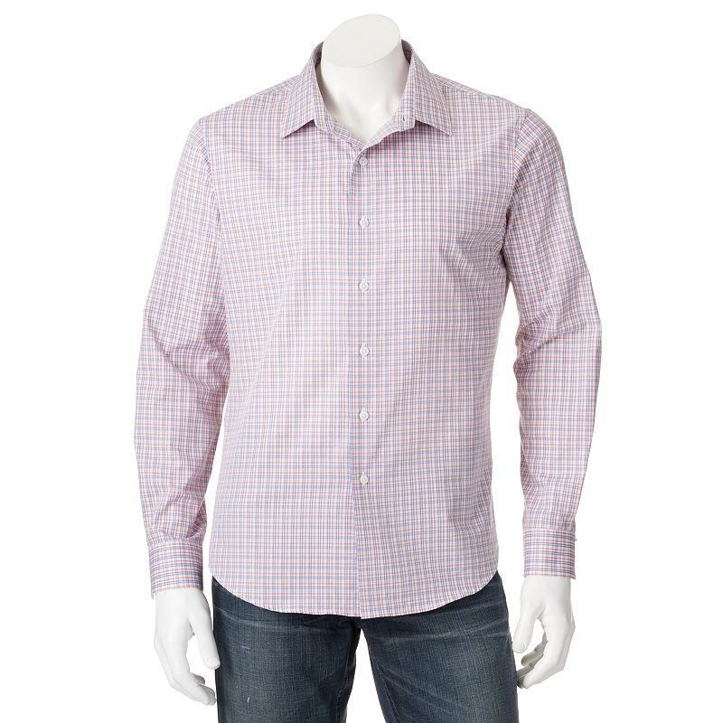 Cotton Plaid Dress Shirt Kohl 39 S
