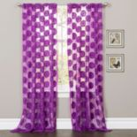 Lush Decor 1-Panel Arlene Sheer Window Curtain - 50'' x 84''