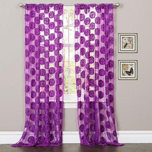 Lush Decor Arlene Sheer Window Curtain - 50'' x 84''