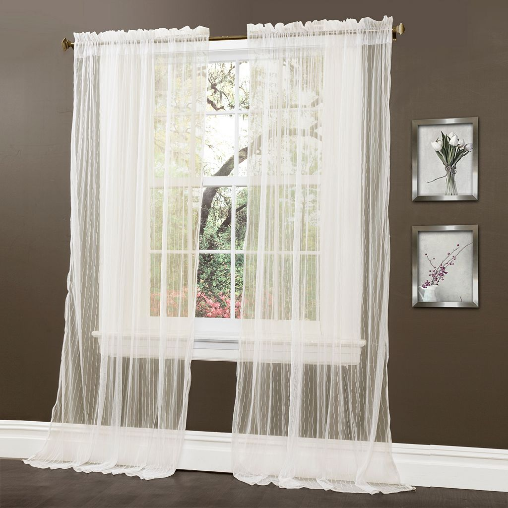 Lush Decor Lola Sheer Window Curtains - 54'' x 84''