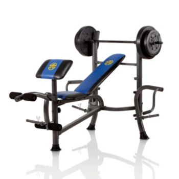 Marcy OPP Weight Bench and 80-lb. Weight Set