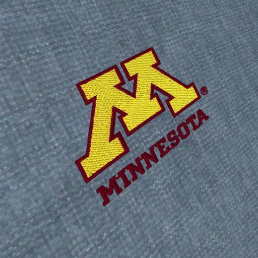 Men's Antigua Minnesota Golden Gophers Chambray Button-Down Shirt