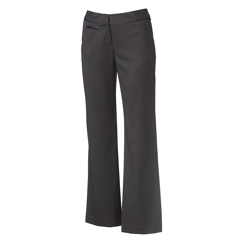 Apt. 9 Modern Fit Solid Trouser Pants - Women's