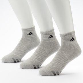 Men's adidas 3-Pack Climalite Quarter Performance Socks