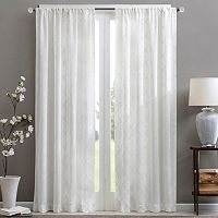 Madison Park Iris Diamond Sheer Window Curtain
