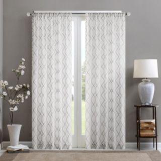 Madison Park 1-Panel Iris Diamond Sheer Window Curtain