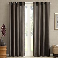 Madison Park Marin Solid Striped Curtain - 50'' x 84''
