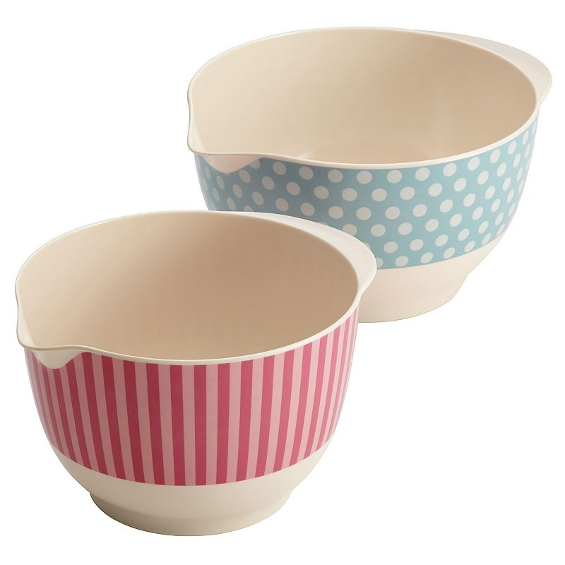 Cake Boss Countertop Accessories 2-pc. Mixing Bowl Set (Multicolor)
