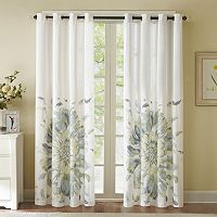 Madison Park Kiely Floral Watercolor Window Curtain - 50'' x 84''