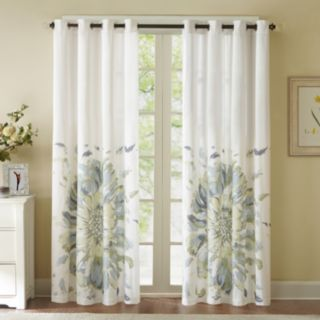 Madison Park 1-Panel Kiely Floral Watercolor Window Curtain - 50'' x 84''