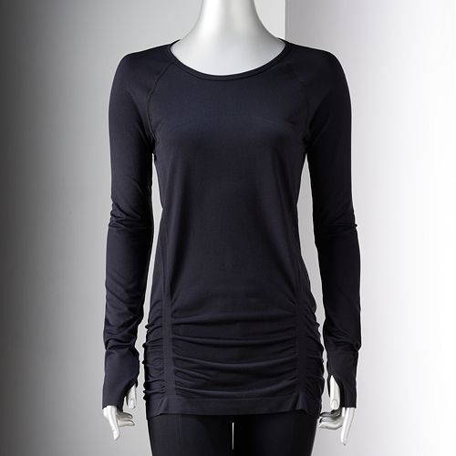 Simply Vera Vera Wang Simply Breathe Ruched Seamless Tee - Women's
