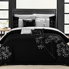 8 pc Floral Comforter Set