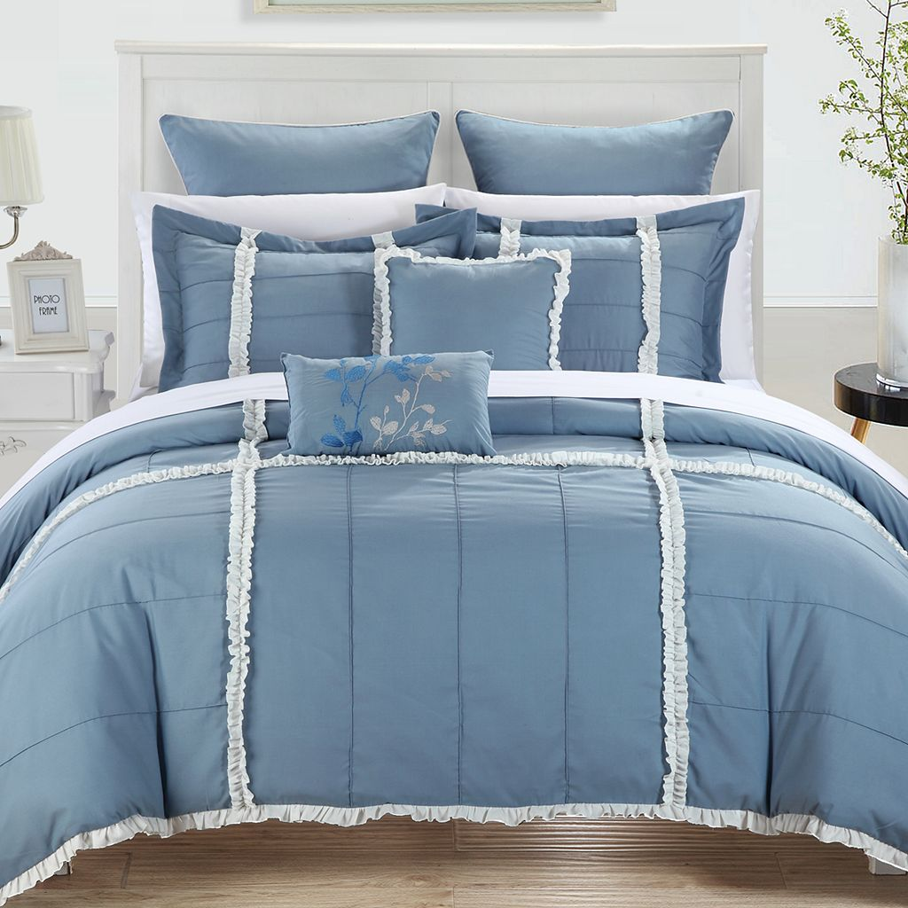 Legend 7-pc. Blue Comforter Set