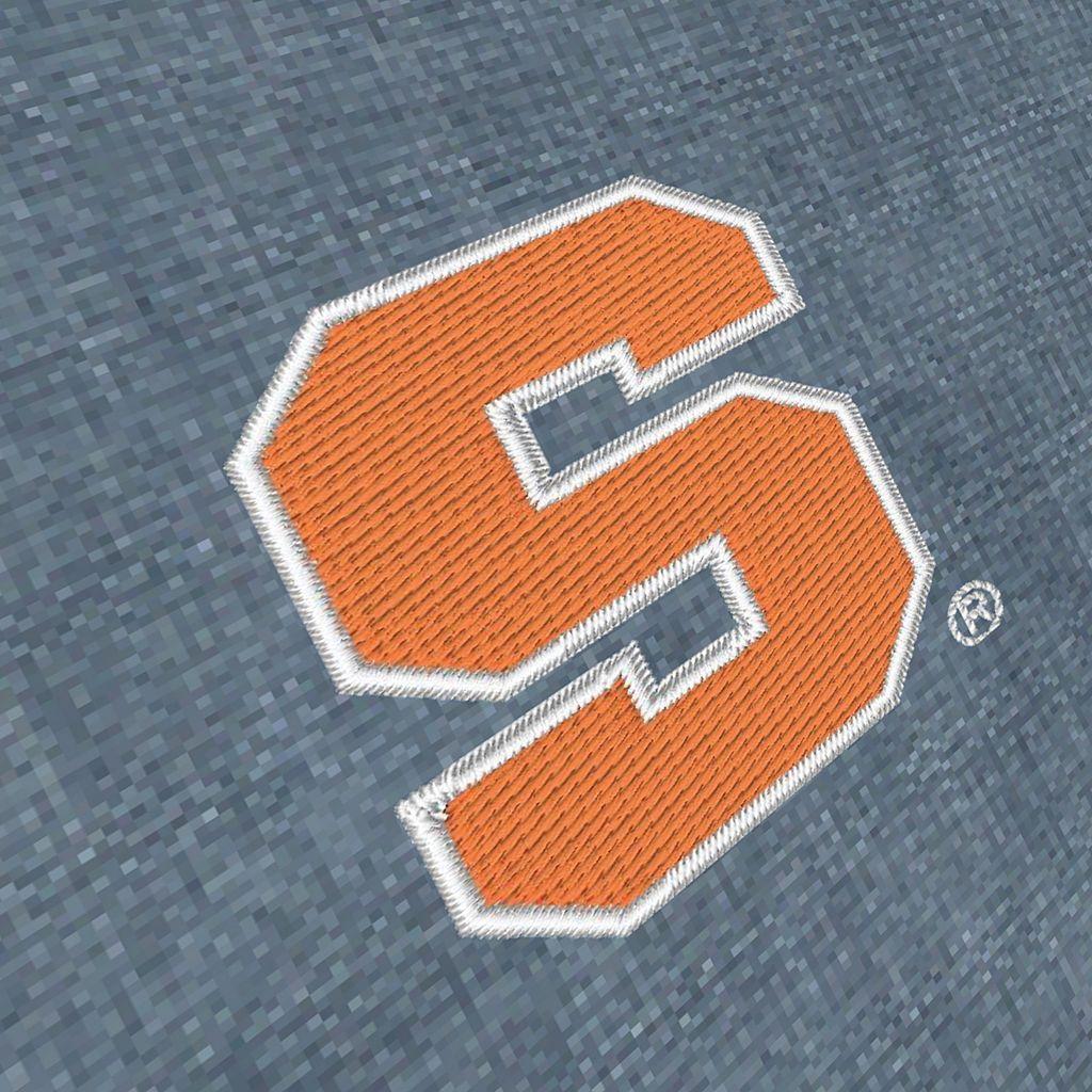 Men's Antigua Syracuse Orange Chambray Button-Down Shirt