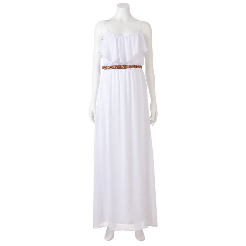 AB Studio Gauze Maxi Dress - Women's (White)