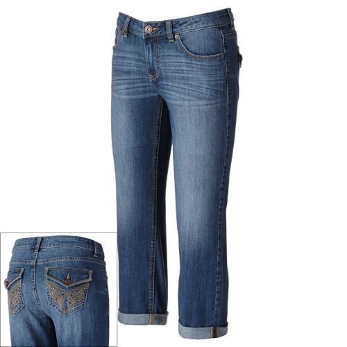 Apt. 9® Modern Fit Cuffed Denim Capris