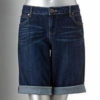 Simply Vera Vera Wang Cuffed Denim Bermuda Shorts - Women's