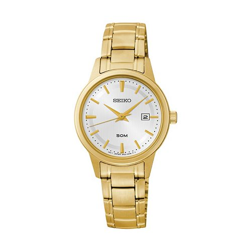 Seiko women 39 s gold tone stainless steel watch sur848 on sale at kohl 39 s for was 240 for Watches kohls